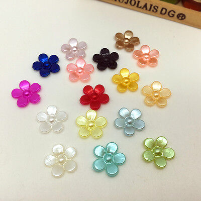 New hot 100pcs Resin Flower 12mm Scrapbooking Flatback For DIY Phone case Mix SS