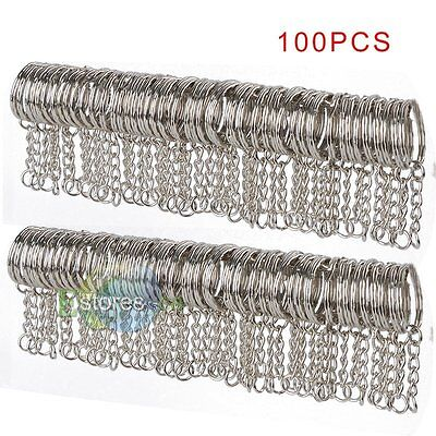 Wholesale 100 Pcs DIY Key Rings Key Chain With Link Chain Key Holder 25mm