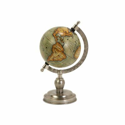 IMAX Corporation Colombo Small Globe with Nickel Finish Base in Silver