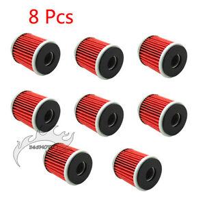 8x Oil Filter For Yamaha YZF 125 WR 125R 125X YZ 250 250F WR450F YZ450F YFZ450