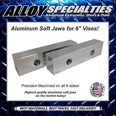 1.5 X 2 X 8 Fully Machined Premium Aluminum Soft Jaws For 6 Kurt Vise