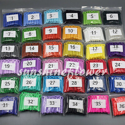 1 Pack Dental Orthodontic Ligature Ties Elastic Rubber Bands 1040 Pcs 37 Colors