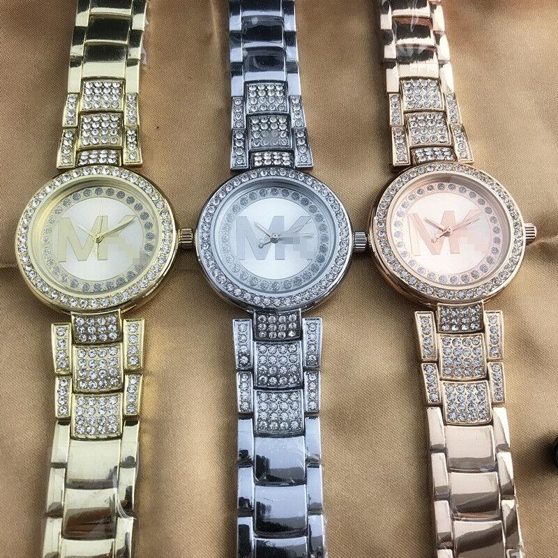 $12.99 -  Fashion Quartz Lady Personality Diamond Luxury Stainless Steel M // K Watches