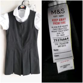 7 Items M&S School Uniform Bundle - Age 8-9 years