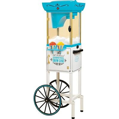 Shaved Ice Snow Cone Maker W Matching Storage Cart Stand Vintage Style Machine