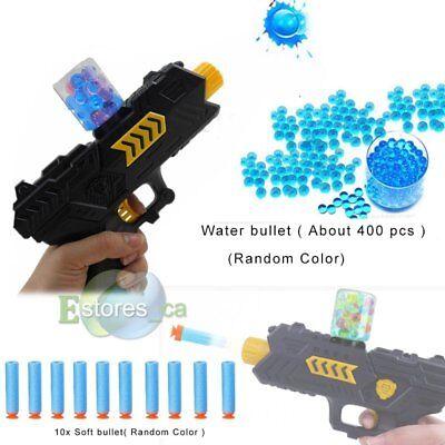 2in1 Toy Gun Soft Bullet Water Crystal Pistol Gift Kids CS Shooting Game Set US - Kids Toy Guns