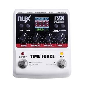 NUX TIME FORCE Gitarren-Effekt-Pedal Multi Digital Delay 11 Delay-Effekte ~ Y0Q0