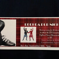 Red Deer Region Highland Dancing Pub Night
