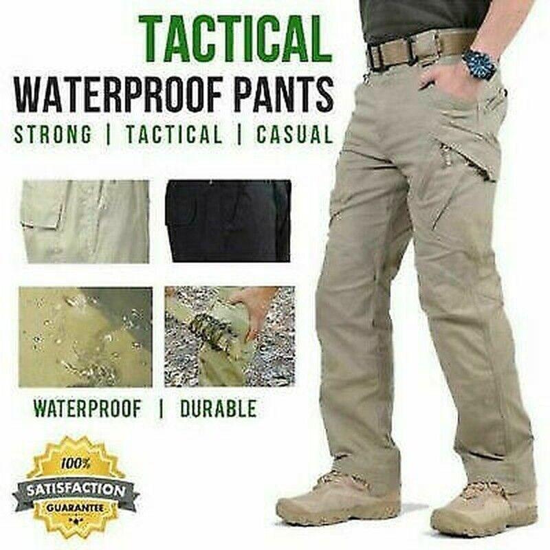 Soldier Tactical Waterproof Pants Mens Cargo Casual Pants Combat Hiking Outdoor