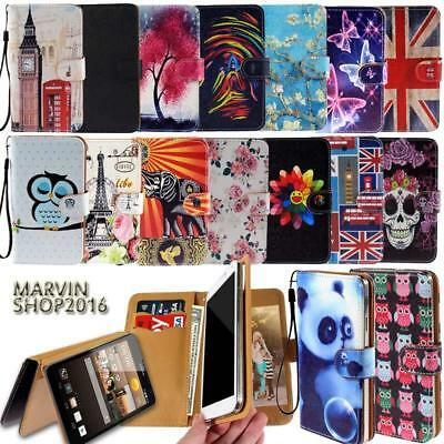 Leather Wallet Card Stand Flip Case Cover For Various Huawei