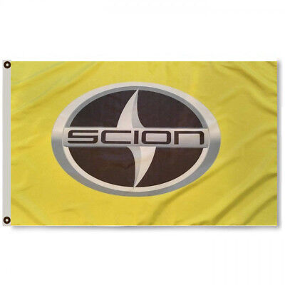 SCION GREEN NEON FLAG BANNER LOGO 3X5Feet IQ IM IA XA XB SD TC GARAGE - Neon Banner