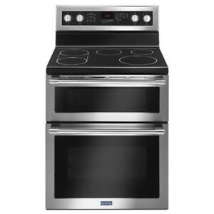 Cuisinière four double Maytag 30 po, Stainless, Showroom
