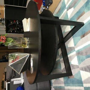 Two Tier Round Coffee Table - Black
