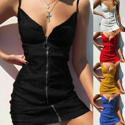 Womens Holiday Strappy Mini Dresses Ladies Summer Beach Plaid Sun Dress Skrit UK
