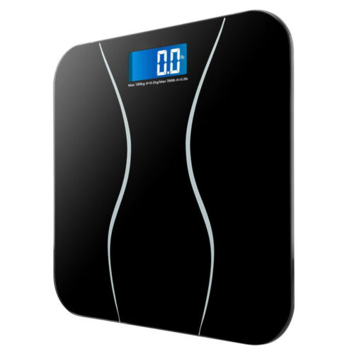Digital Electronic LCD Personal Glass Bathroom Body Weight W