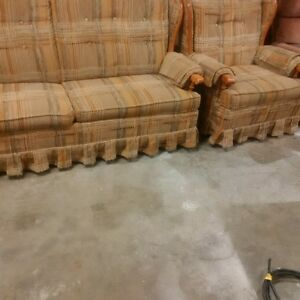 couch with pullout bed and matching chair