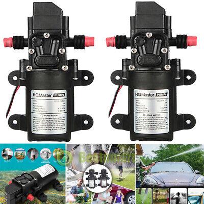 2x12v High Pressure Car Electric Wash Kit 130psi Portable Self-priming Wash Pump