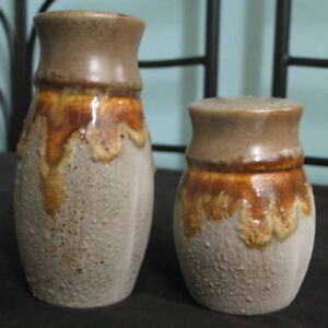 Vintage Laurentian Pottery 'Tundra' Salt and Pepper Shakers
