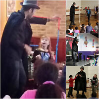 Kids birthday with Magician, Balloons and face painting