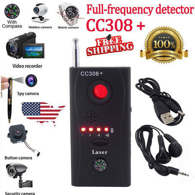 (Pro Anti Spy Signal Bug RF Detector Hidden Camera Lens GSM Device Finder US Ship)