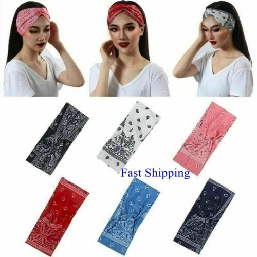 2021 Bandana Headband Elastic Silky Hair band Fashion Yoga Sports Head Wrap Girl
