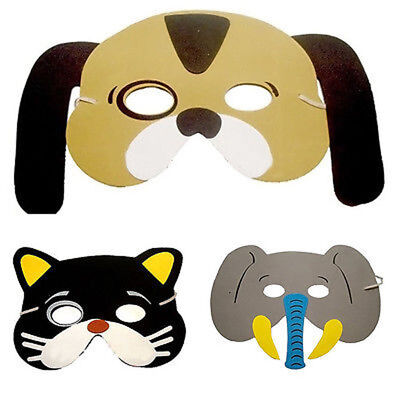 Childrens Foam Animal Masks Birthday Party Occasions  Bag Filler Toys 12Pcs GP3