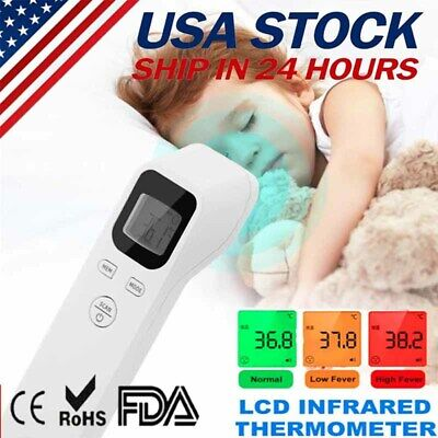 Infrared Digital Forehead Thermometer Touchless Baby Adult Temperature Gun Body&