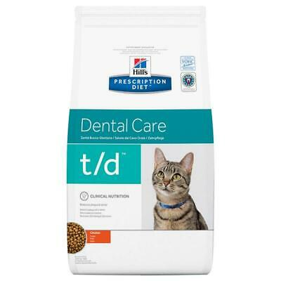 Hills Prescription Diet Feline T/D Dental Care Chicken 1.5Kg Clean Teeth No Tart