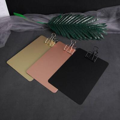 Metal Clipboard Writing Pad File Folders Document Holder School Stationery New.