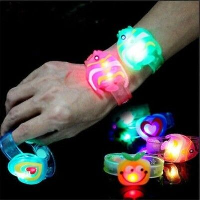 2pcs Cartoon Adjustable Supplies Flash  Led Wrist Watch Bracelet Kids Gift