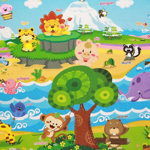 Double sided soft Playmat / Baby Play Mat - Pingko Friends