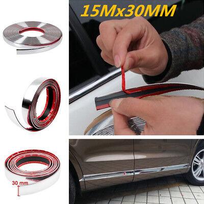 15M Chrome Car Body Door Edge Lip Protector Decor Moulding Trim Moldin