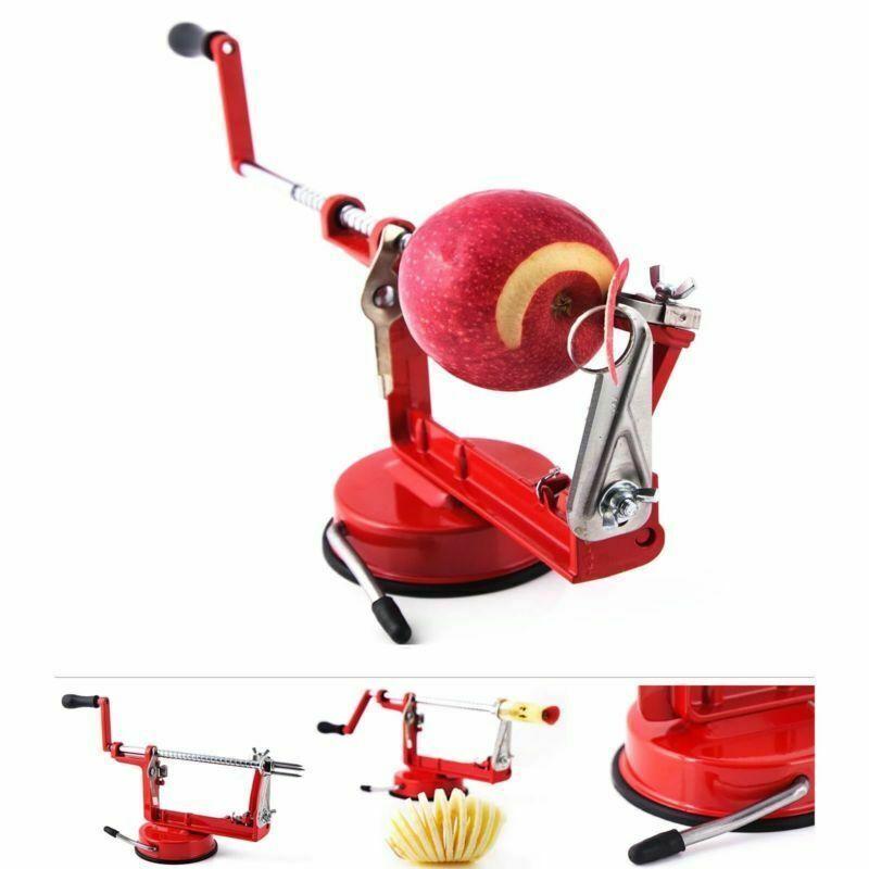 3in1 Edelstahl Apfelschäler Apfelentkerner Apfelschneider Apfelschälmaschine