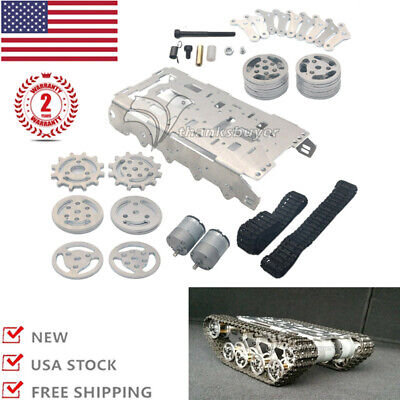Robot Tank Chassis Metal Independent Suspension System Tracked Vehicle Arduino U