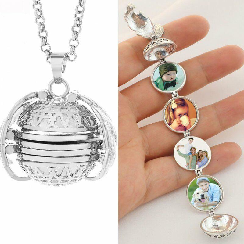 Magic 4 Photo Pendant Memory Floating Locket Necklace Angel