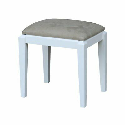 Vanity Stool  in White