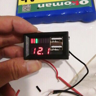 Led Digital Display Voltmeter Mini Voltage Meter Battery Tester Panel Dc 12v Car