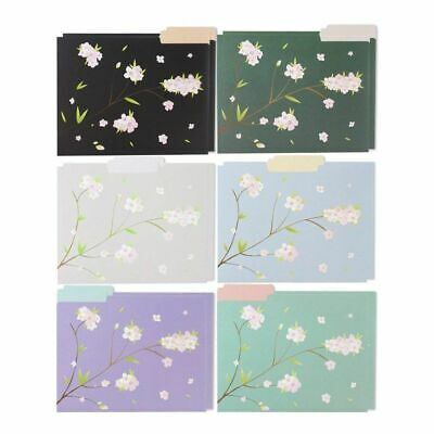 12 Count Decorative File Folder Cute Japanese Cherry Blossom Designs Letter Size
