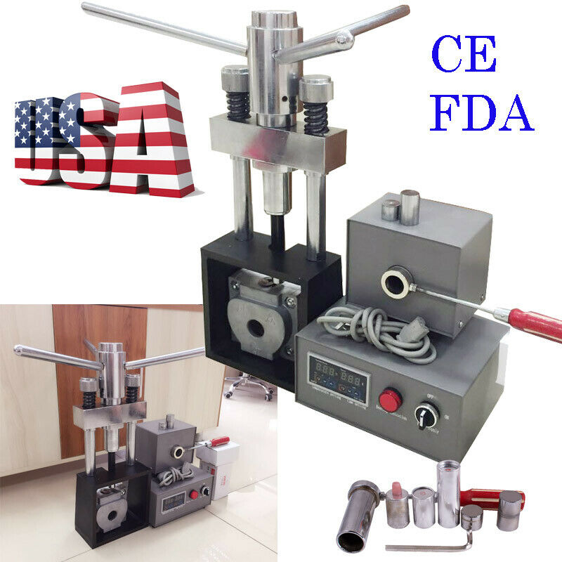 Dental Flexible Denture Material Machine Injection Inject System Heater Press US