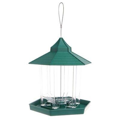 Waterproof Gazebo Hanging Wild Bird Feeder Outdoor Feeding For Garden Decoration