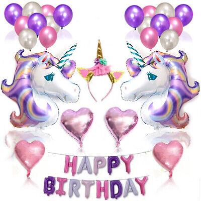 Dekorative Folien (Einhorn Geburtstag Folienballon Luftballons Party Dekorativ Ballon Einstellen DE)