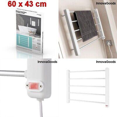 Secador de toallas electrico toallero 5 barras,60x43 cm,50-55ºC,65W,bajo consumo