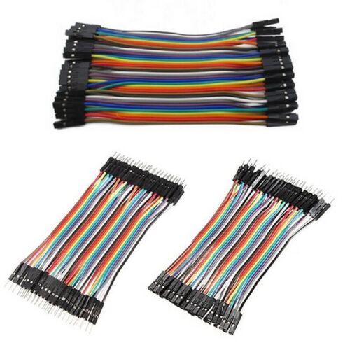 40 Pcs Du pont Jumper Wire M-M / M-F / F-F Cable Pi Pic Breadboard For Arduin ^P