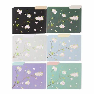 12 Count Decorative File Folder Cute Japanese Cherry Blossom Designs Letter Size