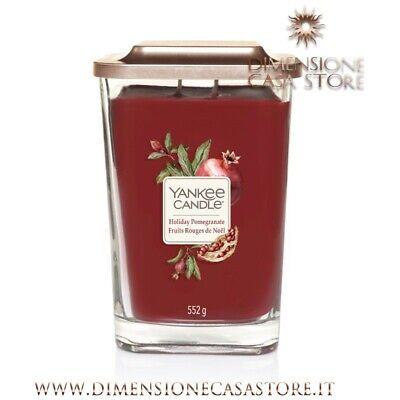 YANKEE CANDLE Candela Profumata Grande Linea Elevation Aroma Holiday Pomegranate