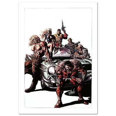 STAN LEE signed AVENGERS Marvel ORIGINAL COMIC Artwork CANVAS COA Mike Deodato