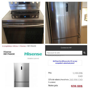 Fridge and stove conv.self clean used 4month .value 2400$ for❓