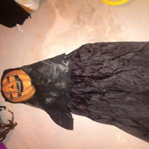 Pumpkin headvhalloween costume