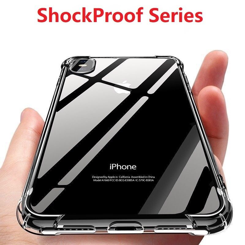 Case for Apple iPhone XR XS Max 8 X 10 7 6S Plus Cover ShockProof Clear Silicone