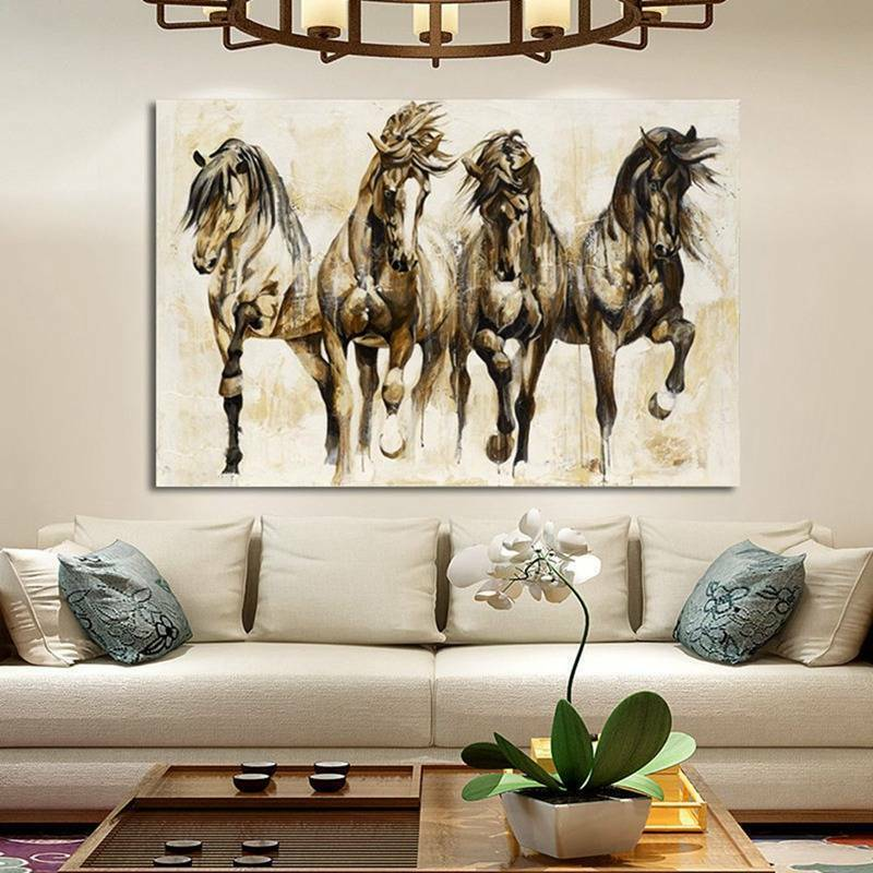 Art Running Horse Canvas Painting Picture
